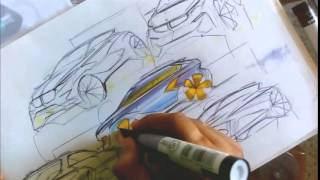 getlinkyoutube.com-Car Sketch & Marker Render Tutorial by Swaroop Roy