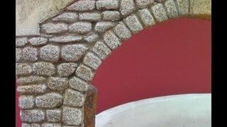 getlinkyoutube.com-IMITACIÓN DE ARCO DE PIEDRA PARA PAREDES - IMITATION STONE ARCH WALL