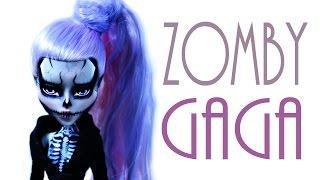 getlinkyoutube.com-Zomby Gaga Doll Repaint [MONSTER HIGH]
