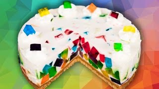 getlinkyoutube.com-Rainbow Jello Cake from Cookies Cupcakes and Cardio