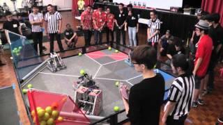 """VEX Robotics """"Nothing But Net""""   255 - 168 Finals Match (ECUH VEX Challenge--University of Hawaii)"""