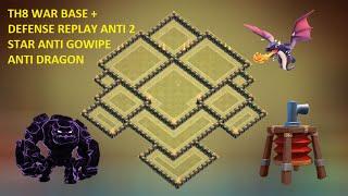 getlinkyoutube.com-Clash of clans - th8 war base 2015 - th8 trophy base - town hall 8 anti Dragon Anti gowipe , 2 star