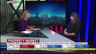 Naomi Heaton discusses Zoopla/Uswitch merger with Sky News