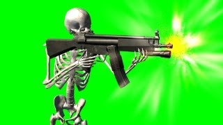 getlinkyoutube.com-skeleton shoots with MP - green screen effect