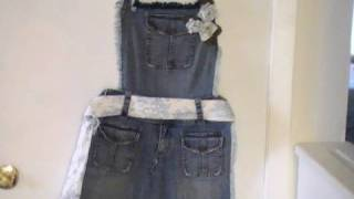 "getlinkyoutube.com-Ideas para reciclar pantalones ""Delantal"""