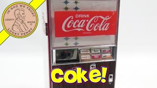 getlinkyoutube.com-Coca Cola Musical Vending Machine Bank, Enjoy A Coke!