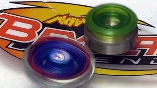 getlinkyoutube.com-Custom Mini Beyblade Legends by Mechanic Papa Battle Series 2 Fang Leone Vs Big Bang Pegasis