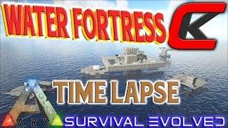 getlinkyoutube.com-Ark: Survival Evolved - Water Fortress TIME LAPSE