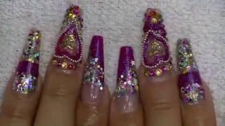 getlinkyoutube.com-Chit chat: Uñas brillosas sin almendra / luliz nails / Decoración para principiantes