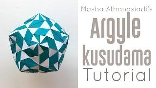 getlinkyoutube.com-Origami Argyle Kusudama Tutorial