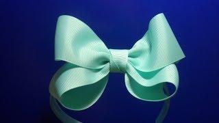 "getlinkyoutube.com-Нежный Бант ""восьмерка"" на ободке  / DIY : Delicate Bow eight on the rim"