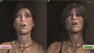 getlinkyoutube.com-Rise Of The Tomb Raider PC Ultra Vs Low Graphics Benchmarks
