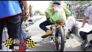 getlinkyoutube.com-Drag Bike Tony Cupank KOLOR IJO Jupiter 130 cc & CREAMPIE MBKW2 fu 200 cc