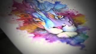 getlinkyoutube.com-Leão Aquarela - Felipe Luiz Tattoo Studio