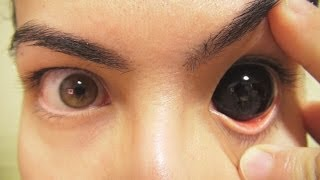 getlinkyoutube.com-How to: Insert And Remove Black Sclera Contact Lenses (Fxeyes)