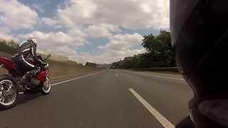 getlinkyoutube.com-Lamborghini Aventador e o pega das motos S1000RR vs ZX10R 06
