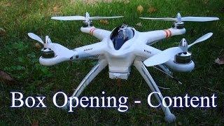 getlinkyoutube.com-Walkera QR X350 - FPV Version - IOC input adapter installed. Box opening and brief detail on items..