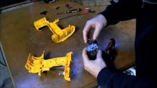 getlinkyoutube.com-Dewalt cordless drill repair part 2  SMOKING MOTOR !