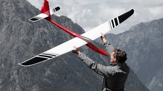 getlinkyoutube.com-Jedi 4 Airtech - RC glider slopesoaring aerobatics shot with GoPro and Canon 5D Mk II