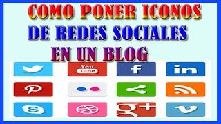 getlinkyoutube.com-Como Poner Iconos de Redes Sociales en Blogger 2016 bien explicado
