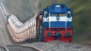 getlinkyoutube.com-The Raising Trains ! Incredible GRADIENTS : Indian Railways