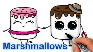 getlinkyoutube.com-How to Draw Cartoon Marshmallow Cute and Easy