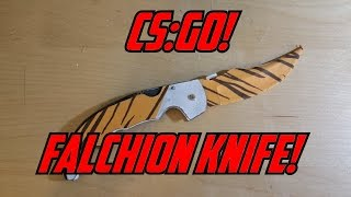 getlinkyoutube.com-Paper CS:GO Falchion Knife (Tiger Tooth) +STRESS TEST