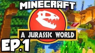 getlinkyoutube.com-Jurassic World: Minecraft Modded Survival Ep.1 - DINOSAURS IN MINECRAFT!!! (Rexxit Modpack)