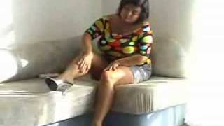 getlinkyoutube.com-Indian mature tease in stockings 2