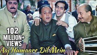 getlinkyoutube.com-Aaj Humaare Dil Mein - Bollywood Song - Alok Nath, Reema Laagu, Salman Khan - Hum Aapke Hain Kaun