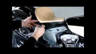 getlinkyoutube.com-2015 Indian Scout Spring Solo Seat Mounting Kit Conversion Tractor Leather Spring Seat Mother Road C