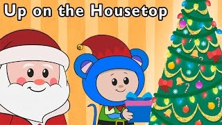 getlinkyoutube.com-Real Santa Brings Toys | Up on the Housetop and More | Baby Songs from Mother Goose Club!