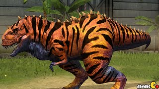 getlinkyoutube.com-Dinosaur Rarity Battle Event Monstrous Mix Of Dinosaurs Max Stages 55 - Jurassic World The Game!