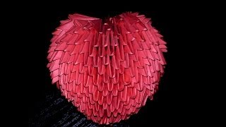 getlinkyoutube.com-3D origami valentine 3D heart volume tutorial (instruction)