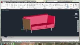 getlinkyoutube.com-AutoCAD 2013 - 3D Modeling Basics - Sofa Part 1 - Brooke Godfrey