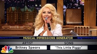 getlinkyoutube.com-Wheel of Musical Impressions with Christina Aguilera