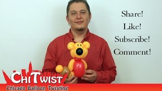 getlinkyoutube.com-Winnie the Pooh Balloon Animal | ChiTwist Balloon Art