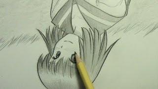 "getlinkyoutube.com-Drawing ""Miki"" Upside Down (Msg. to My Subscribers #17)"