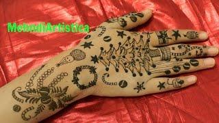 getlinkyoutube.com-Special Christmas Party Mehndi Designs FoR Hands|Easy Henna Mehandi Tattoo Art:MehndiArtistica