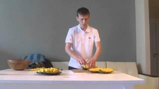 getlinkyoutube.com-Как резать ананас