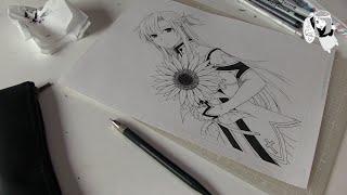 getlinkyoutube.com-Asuna. Sword Art Online. Speed Manga Drawing. Асуна. Мастер Меча Онлайн