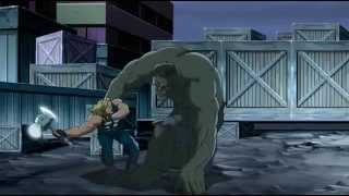 getlinkyoutube.com-Captain America, Iron Man, Thor, Nick Fury, Giantman & Wasp VS The Hulk - The Ultimate Fight