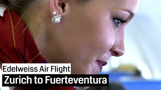 getlinkyoutube.com-Edelweiss Air Airbus A320 Zurich - Fuerteventura and back (Cockpit, Jumpseat, Cabin)