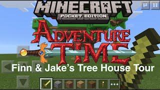 getlinkyoutube.com-Minecraft PE: Adventure Time Finn & Jakes Tree House Tour