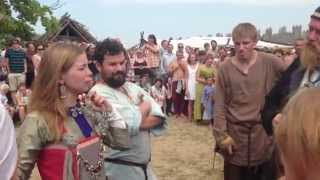 getlinkyoutube.com-Wolin Viking Festival slave market - Festiwal Słowian i Wikingów Wolin 2013 targ niewolników