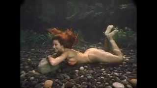 sexy red hair girl underwater