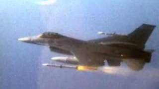 getlinkyoutube.com-F-16's Firing Missiles & Dropping Bombs