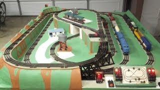 getlinkyoutube.com-1950's Lionel O Gauge Train Layout Restoration Project and Operation 2013