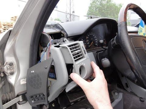 №2 лампы в колёсике воздуховода Mercedes W210 Light Bulb Replacement in Air Duct