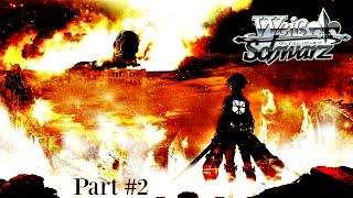 getlinkyoutube.com-Attack on Titan Weiss Schwarz Card Pack Opening [Part #2]